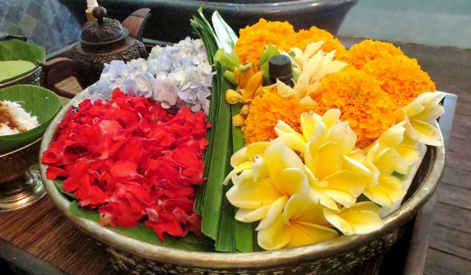 Bali bath flowers